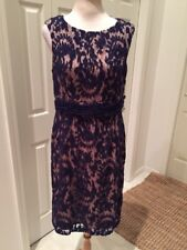Adrianna Papell Lace Blue Empire Cocktail Party Dress 14 Style 011231110 NWOT