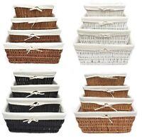 Large Big Wider Full Wicker Hamper Basket Kitchen Storage Lined Handle Basket