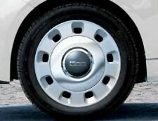 "Fiat 500 Wheel Cover 15"" Kit Vintage Chrome 71804381"