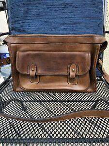 Vintage Ghurka Marley Hodgson No. 8 The Courier Tan Leather Satchel Bag
