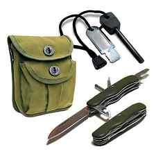 3 tlg. Survival Set ROGER OLIV Outdoor Ausrüstung BW Taschenmesser Geschenk -10%