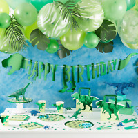DINOSAUR PARTY TABLEWARE - DINOSAUR PARTY THEME ACCESSORIES
