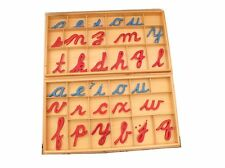 HOT HOLIDAY GIFT! Montessori Language - Large Cursive Movable Alphabet in Boxes