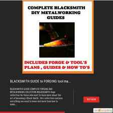 BLACKSMITH GUIDE TO FORGING TOOL MAKING WELDING  MAKE CHARCOAL COAL FORGE PLANS