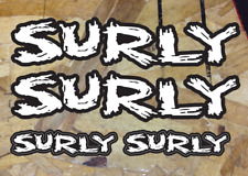 "Surly Bikes Sticker Decal Bicycles 5"" Die Cut Black White XO Replacement - 4ea"
