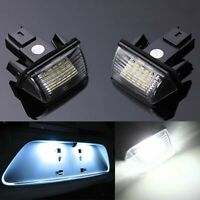 1 Pair 18LED License Plate Light for Peugeot 206/207/307/308 Citroen C3/C4/C5/C6