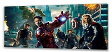"Marvel Avengers Assemble Canvas 22""x10""  Framed Picture 02"