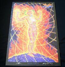 Vintage ALEX GREY Holy Fire Signed Poster 2007