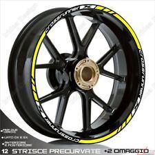 Trims Stickers Sport Wheel Wheel Honda VFR 800 x Crossrunner White Yellow