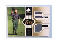 2012 SP Game Used Edition Golf PAYNE STEWART Tour Gear Dual Shirt Gold 24/35
