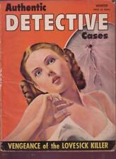 AUTHENTIC DETECTIVE CASES 1944 #1 GIRLS & CRIME PULP G/VG