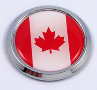 Canada Canadian Round Flag Car Chrome Decal Emblem bumper Sticker bezel badge