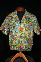 "COLLECTABLE VINTAGE 1960'S COTTON PRINT ""ISLAND CASUALS"" HAWAIIAN SHIRT SZ MED"