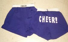 New listing Youth Medium (10-12) Soffe Style Purple Cheer Logo Athletic Shorts NWT