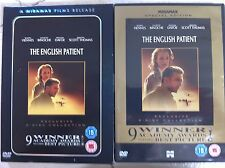 Ralph Fiennes JULIETTE BINOCHE the English PAZIENTE ~1996 UK DVD con / Copertina
