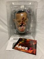 Rage 2 Collector's Edition Ruckus the Crusher Talking Head Statue with Poster