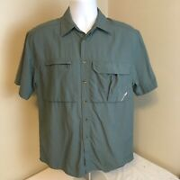 REI Mens Short Sleeve Shirt Vented Hiking Camp Fishing XS Extra Small Free Ship!