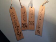 wooden personalised bookmarks, made to order bespoke,