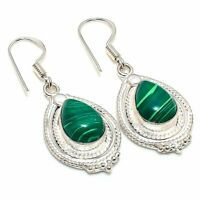 "Malachite Handmade Ethnic Style Jewelry Earring 1.77"" SZ-4774"