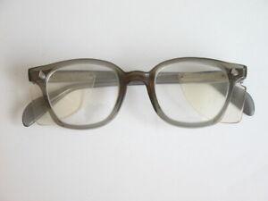 Vtg Americal Optical Thick Eyeglasses Frames Steampunk Clear Lenses Welding
