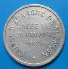 Algérie Algeria Tlemcen caisse d'épargne 25 centimes Lec.386