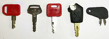Heavy Equipment Key Set 5 Keys CAT John Deere &  Komatsu Caterpillar