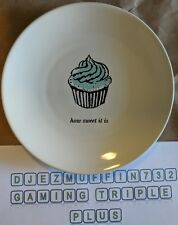 """KATE SPADE 'HOW SWEET IT IS' 6"""" APPETIZER PLATE (CUPCAKE)"""