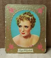Vintage 1936 Sultan Film Stars #188 Lizzi Holzschuh Trading Card