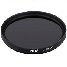 49mm Neutral Density Filter ND8 Filter Camera Lens Canon Nikon Sony Fuji Samsung