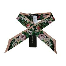 🇩🇪Dolce & Gabbana  Lyst Roses Silk Necktie Shawl Bandeau Scarf FS215A