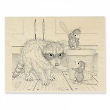 HOUSE MOUSE RUBBER STAMPS ICE CREAM BANDIT NEW WOOD STAMP