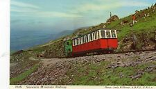 Postcard  Wales 2BAG  Snowdon mountain railway   un posted  Harvey Barton