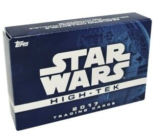 2017 Star Wars High Tek HOBBY BOX. NEW. 1 pack of 8 cards. 1 autograph included.