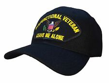 "The Original ""Dysfunctional Veteran"" Hat Black Ball Cap MADE IN USA!"