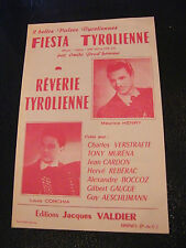 Partition Fiesta Tyrolienne Prud'homme Rêverie Tyrolienne Louis Corchia 1957