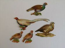 Selection of wild bird Victorian scraps cut outs craft idea scrap booking