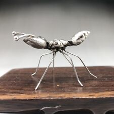 Chinese ancient Tibetan silver hand-carved ant statue
