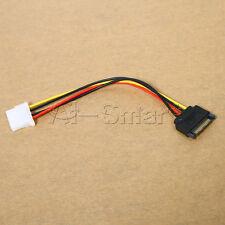 Male Female 4-pin Power Drive Adapter Cable to Molex IDE SATA 15-pin