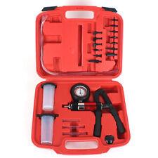 21pcs Hand Held Vacuum Pressure Pump Tester Kit Brake Fluid Bleeder Set