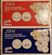 2004 Uncirculated U.S. Mint Coin Sets, 22-Coins, 4-Sealed Soft Packs