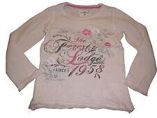 H & M tolles Langarm Shirt Gr. 98 / 104 rosa mit Druckmotiv und Stickerei !!