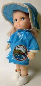 """Vintage Niagara Falls Prospect Point Doll/Raincoat/Hat/Boots-HONG KONG 7 1/2"""""""