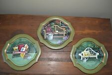 Set 3 Tam San Designs HAND PAINTED & SIGNED BY ARTIST Plates VERY NICE QUALITY