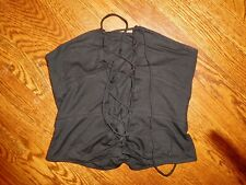 Jill Stuart NWOT Black Bustier Crop Top Lace Up, size 6