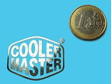 Cooler Master metalissed Chrome effect Sticker Logo Autocollant 35x28mm [679]