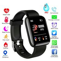Smart Watch IP67 Heart Rate Oxygen Blood Pressure Fitness Tracker Activity Sport