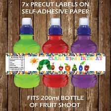 PERSONALISED THE VERY HUNGRY CATERPILLAR FRUIT SHOOT LABELS CHILDREN PARTY GIFTS