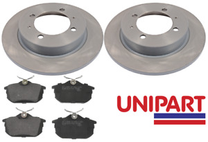 For Volvo - S40 / V40 1995-2003 Rear 260mm Brake Discs and Pads Unipart