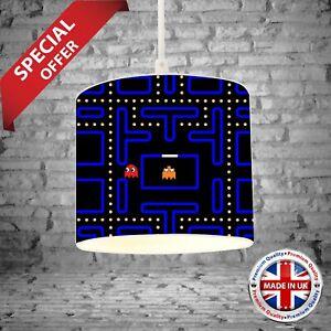PacMan Bedroom Drum Lamp Light Shade Gaming Kids Room Decor Boys Girls Gift 3