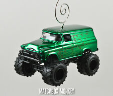 Custom '57 Chevy Suburban 4x4 Truck Christmas Ornament 1/64 Emblem GMC C10 K
